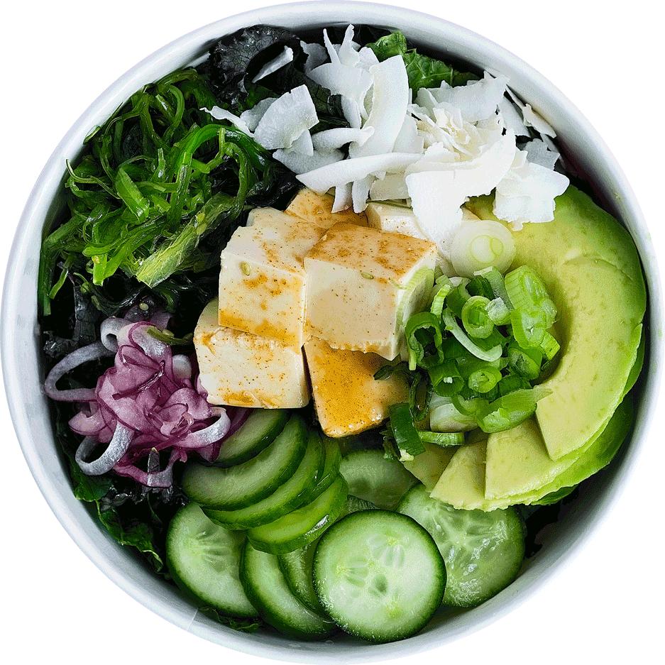 Tofu poké bowl