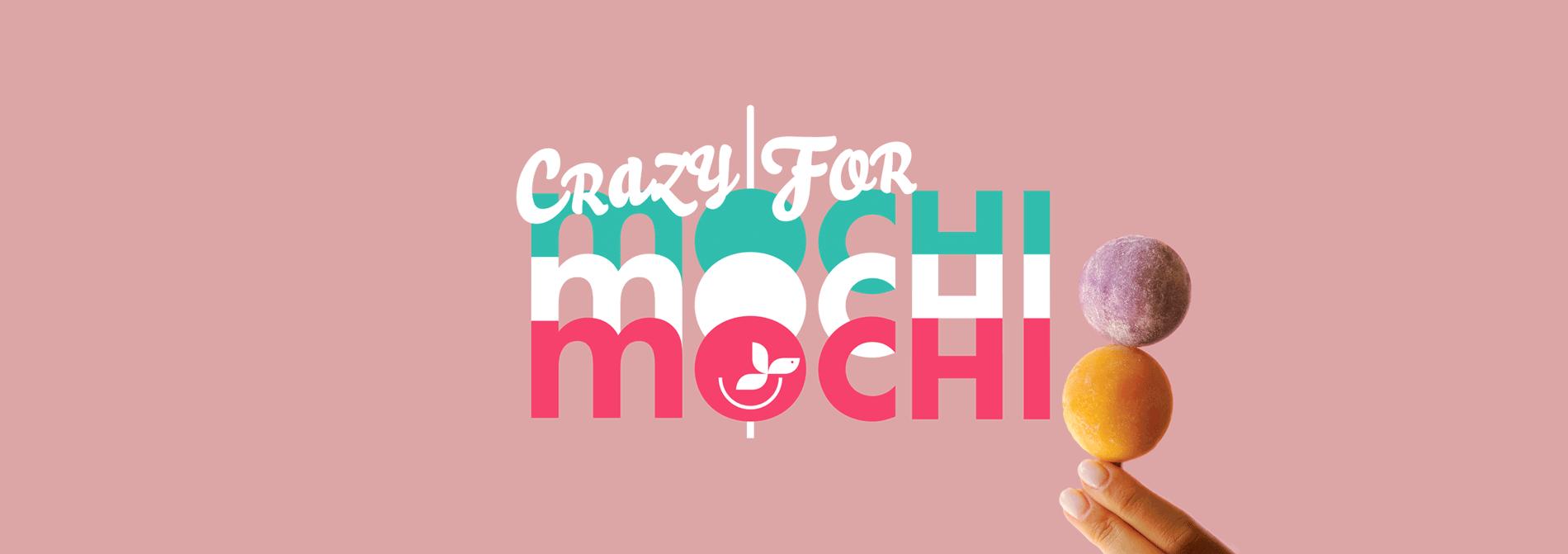 A stick of mochi ice cream balls